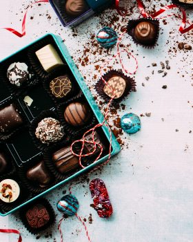 Christmas chocolates free stock photo