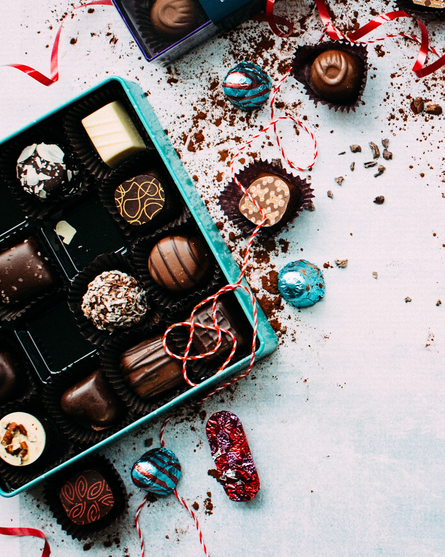 Christmas chocolates free stock photo