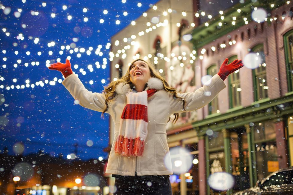 Christmas happy woman free photo