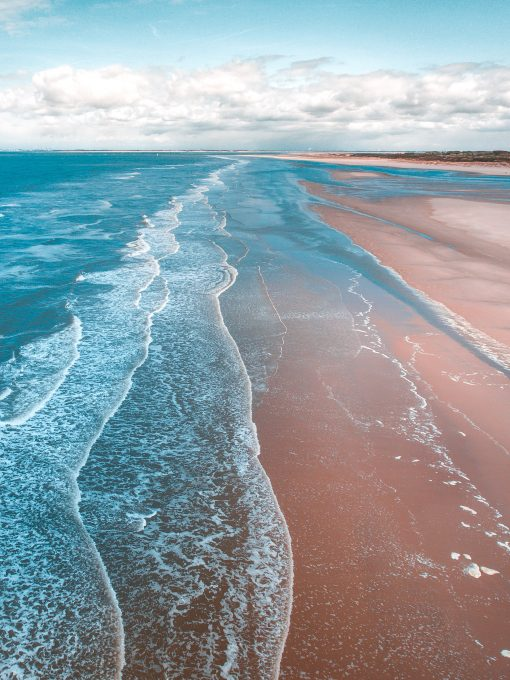 Coastline aerial view free stock photo
