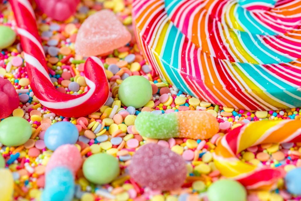 Sweet candy background free photo