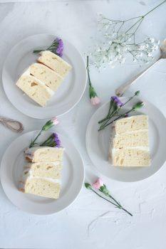 Vanilla layer and buttercream cake free stock photo