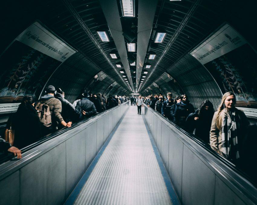 People on a walkalator