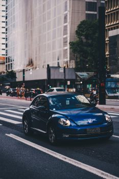 Photo of Volkswagen car on a road