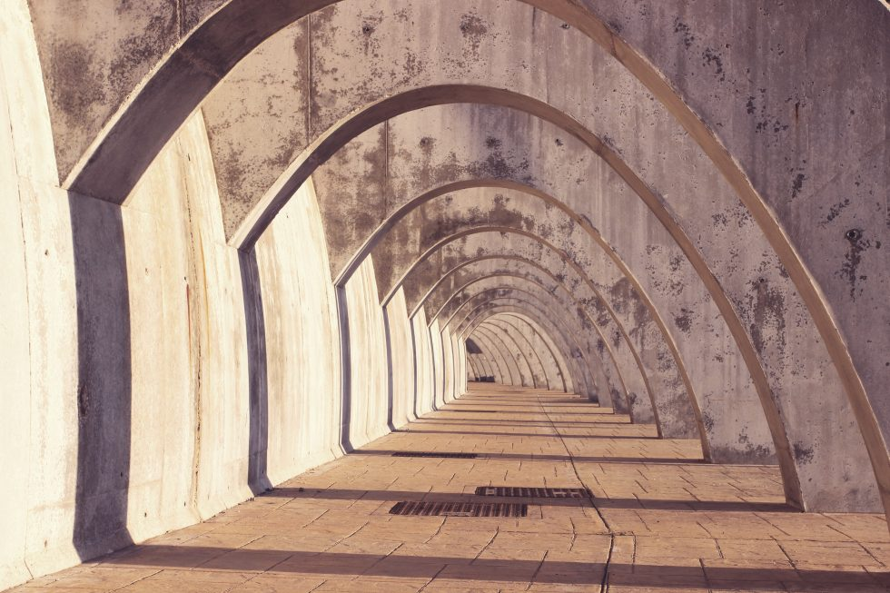 Photography of a concrete structure