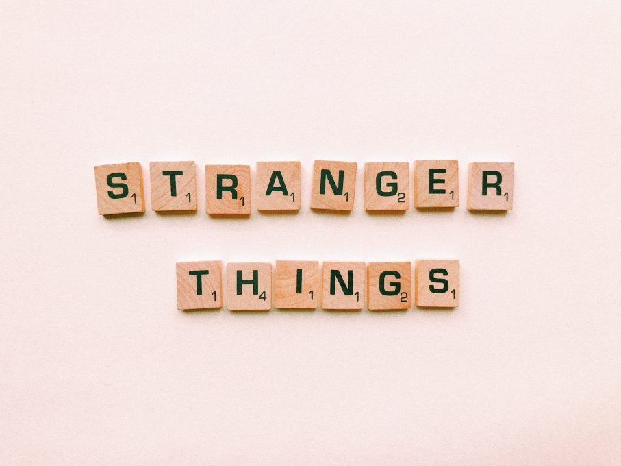 Stranger things letter tiles
