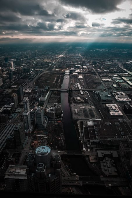 Aerial photography of a city structures
