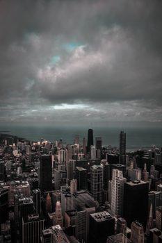 Bird's eye view of a city