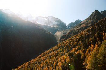 Wide-angle photography of mountain