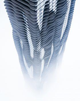 A gray tower 3D wallpaper