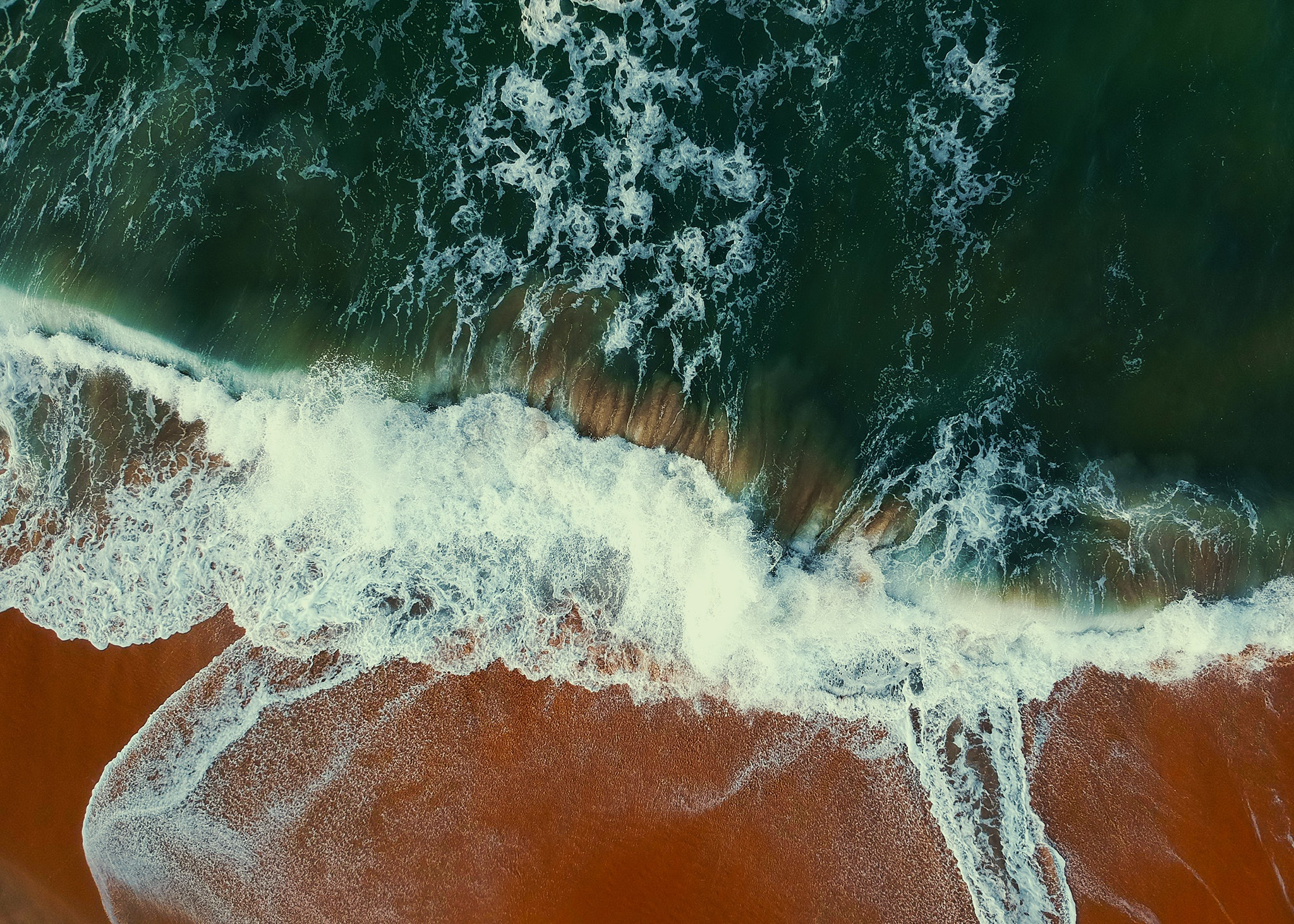 Aerial view photography of seashore at daytime