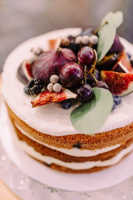 High-angle photo of a cake