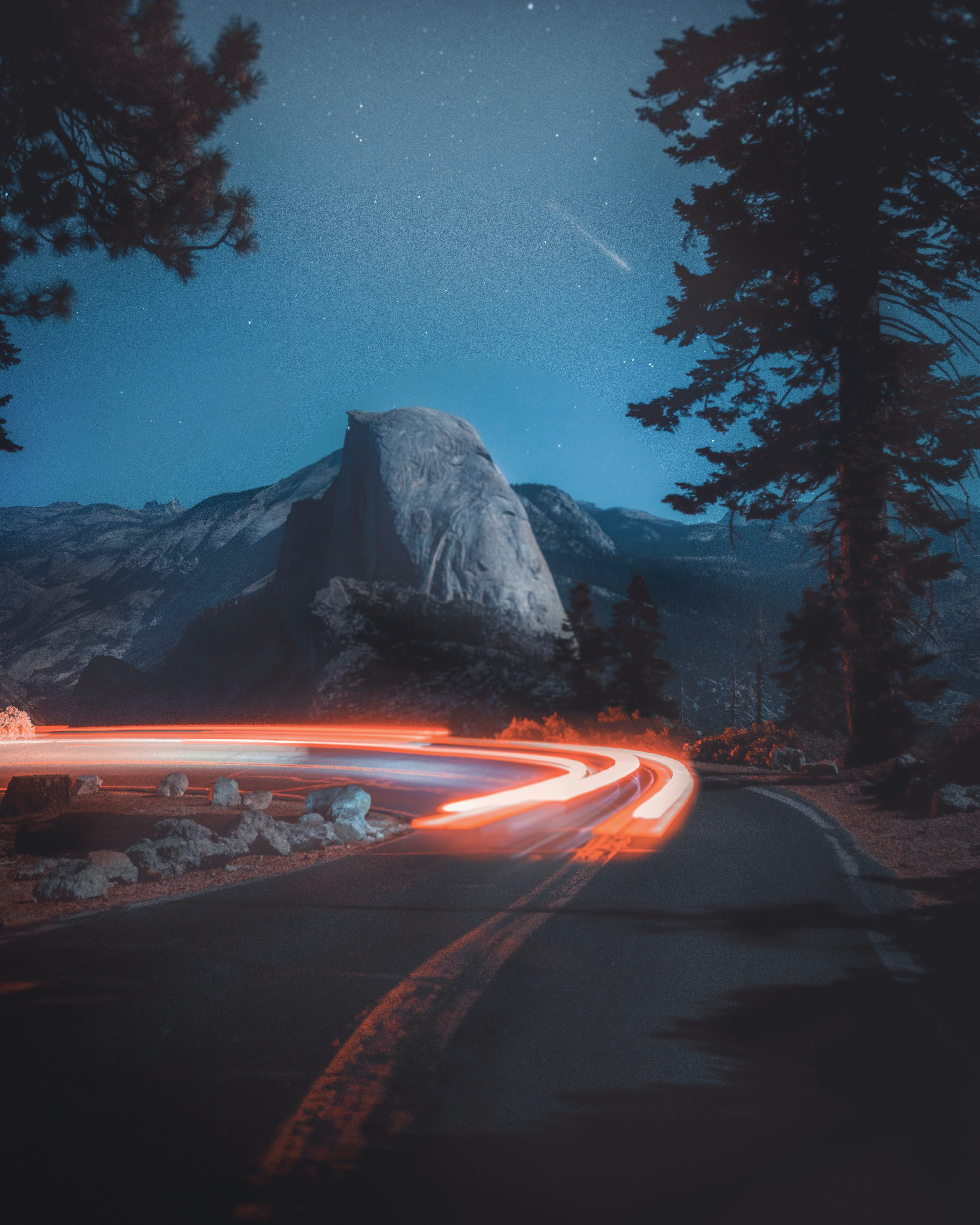 Long exposure photography of a road