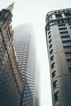 Low-angle photo of buildings