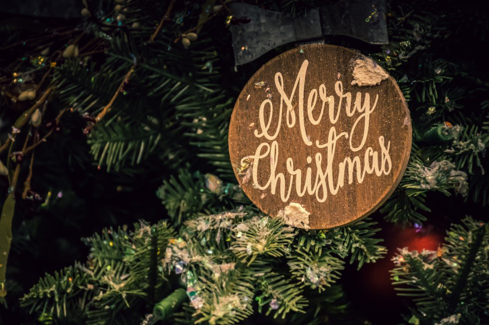 A Merry Christmas sign