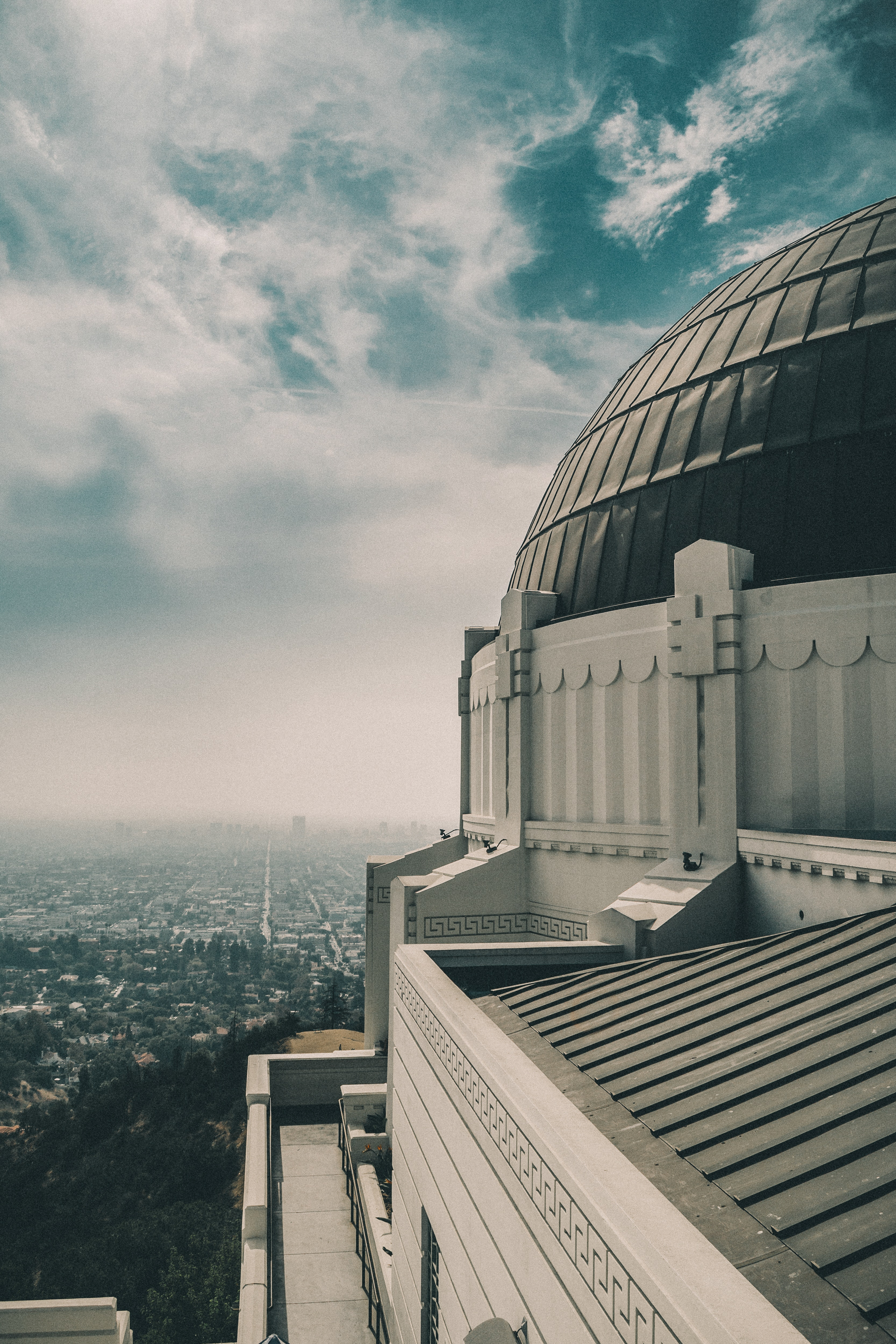 A white dome building