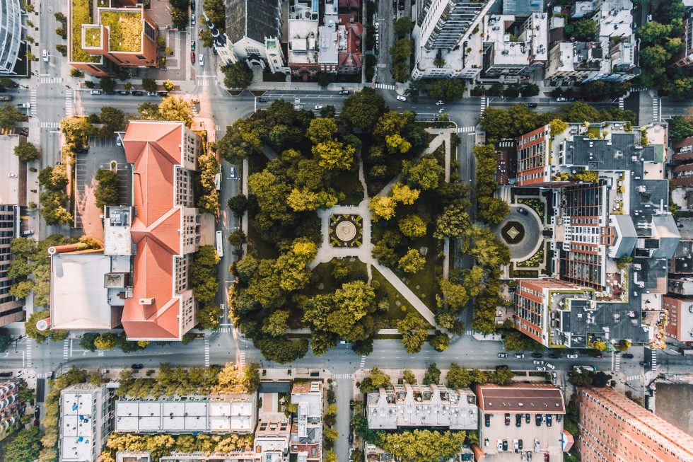 Aerial photography of a city