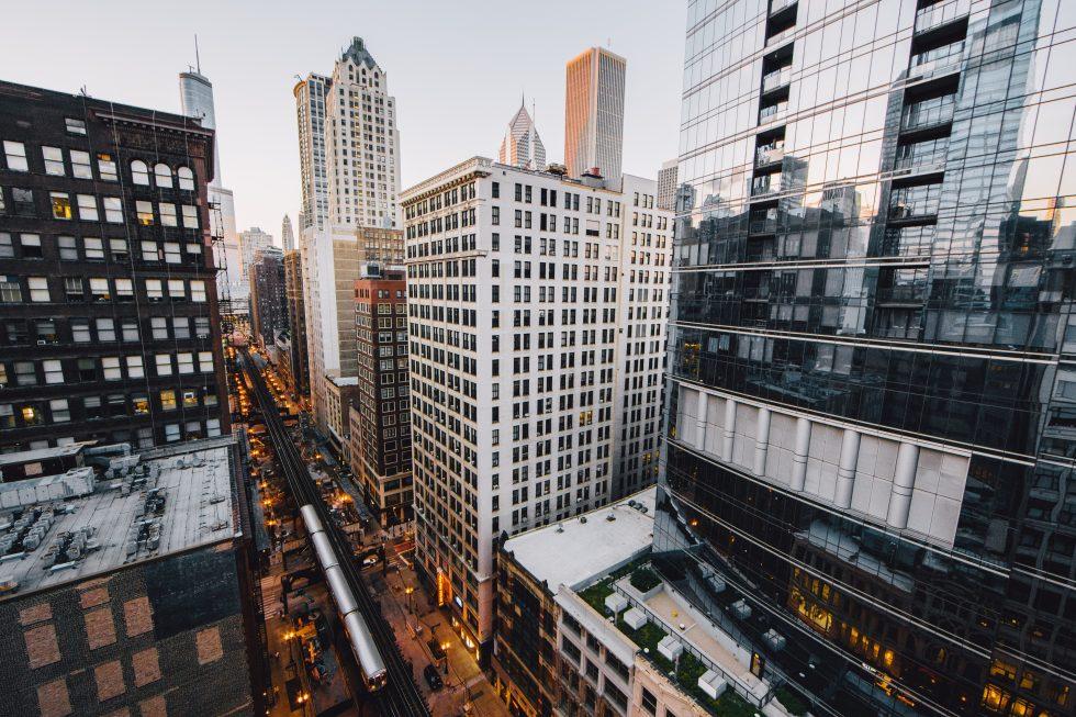 High angle photo of the city life