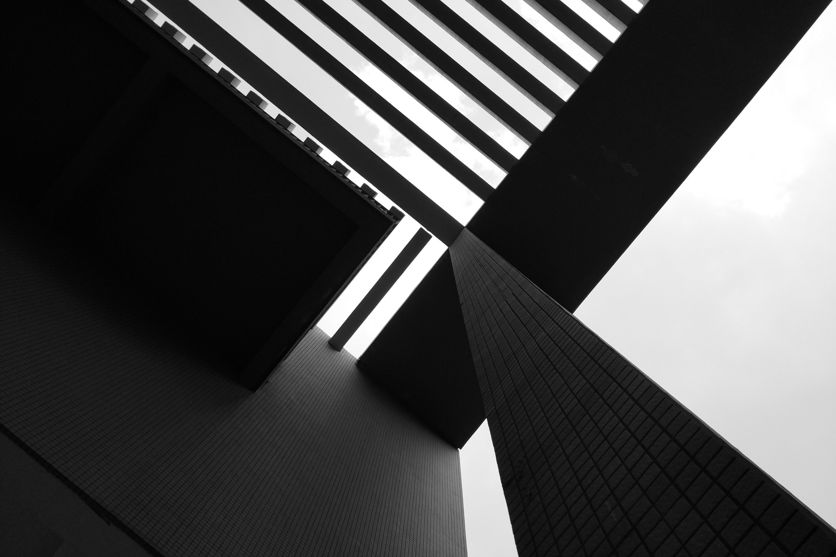 Low-angle shot of a building