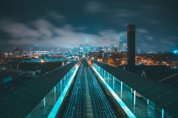 Photo of a night city