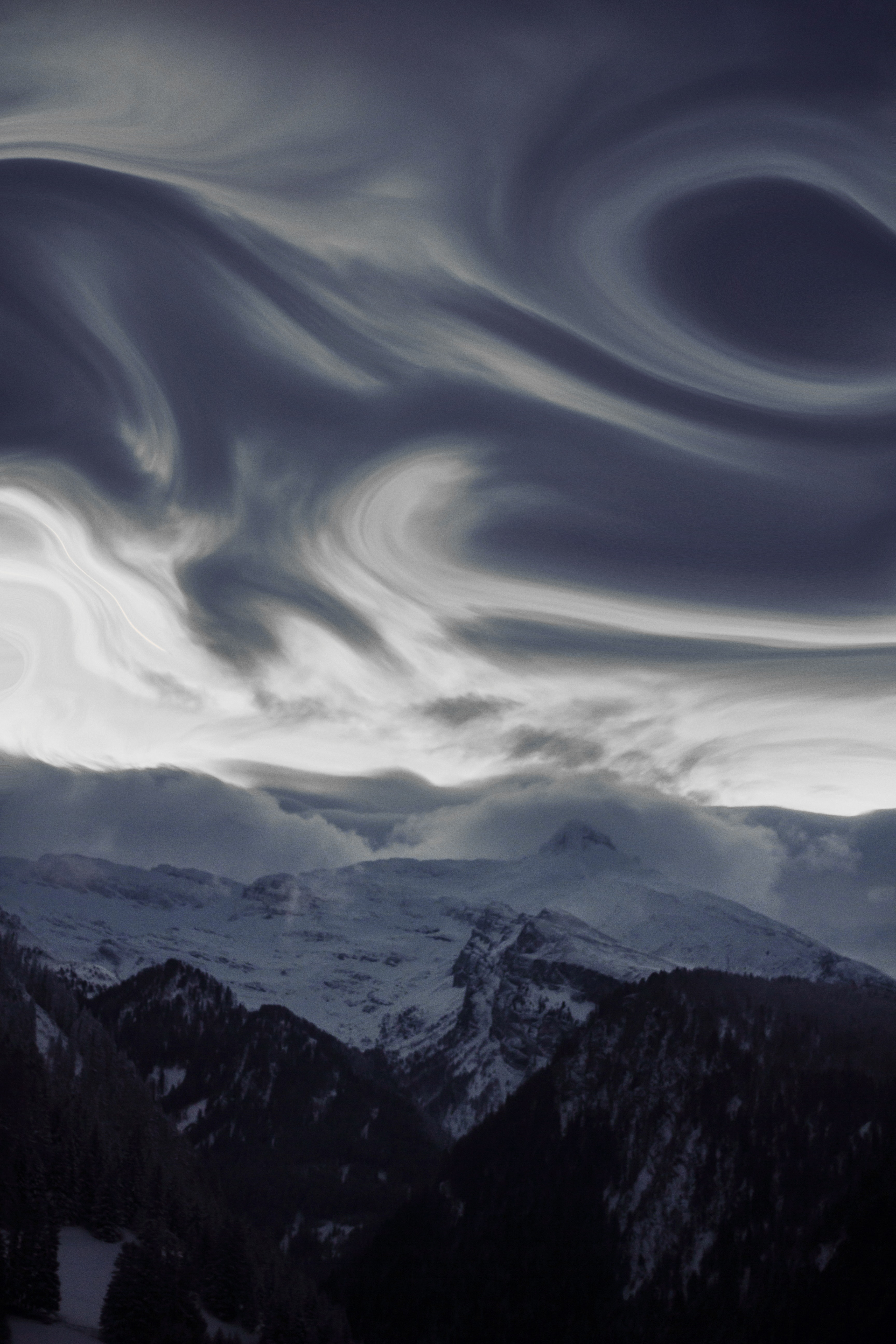 Time-lapse photography of clouds