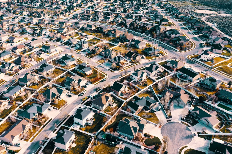 Top-view photography of a town