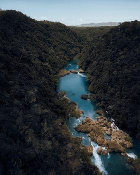 Bird's eye photo of a river