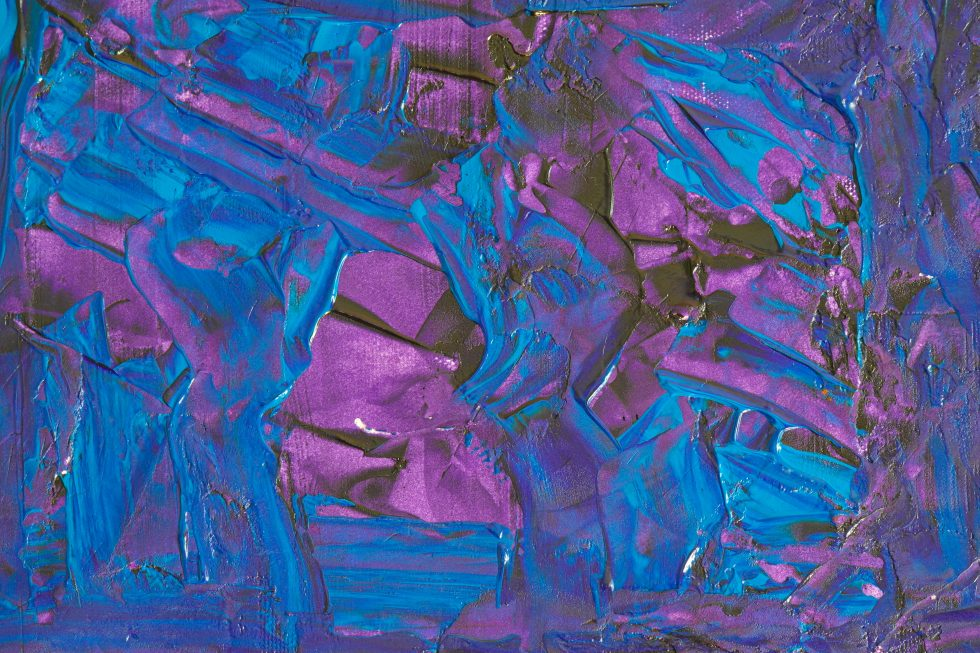 Blue and purple paint