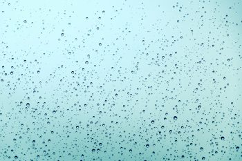 Droplets on an azure background