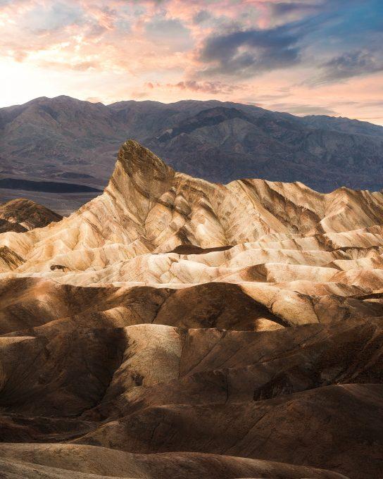 Mountains in a desert